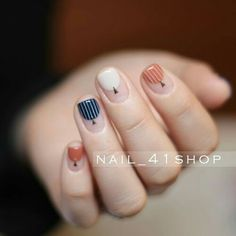 I m fall in love with this nails. Love Nails, Fun Nails, Beauty And More, Nailart, Minimalist Nails, Manicure E Pedicure, Creative Nails, Trendy Nails, Nails Inspiration