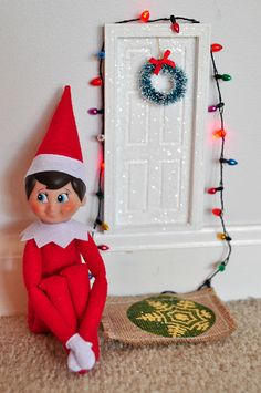 The elf belonging to Flickr user Melissa Hillier got his own little door to decorate for the holidays.  Source: Flickr User Melissa Hillier