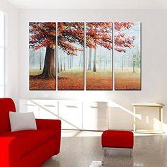 "Hand-Painted ""Lush maple"" 4-Piece Gallery-Wrapped Oil Painting On Canvas Artland http://www.amazon.com/dp/B0145YTIOA/ref=cm_sw_r_pi_dp_dcd3vb1B70W79"