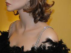 Diamond Pattern Bra Straps Item  1031  Rhinestone by Giovonna