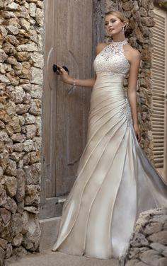 Beautiful neckline. | Stella York Wedding Dresses