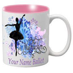 MG108: Nutcracker Ballet Mug - Ballerina Silhouette