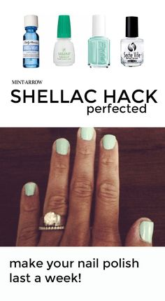 shellac hack – make your polish last a week! Which is good because i NEVER paint my nails. I may however try it on the twins to make their polish last more than 20 minutes...