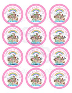 Noahs Ark Animals Mix and Match 2.5 inch circle Printable Cupcake toppers tags Printable Personalized Digital File. $5.00, via Etsy.
