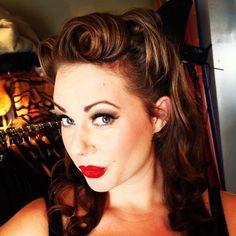 Pin up Hair & Makeup | Rockabilly Hairstyles | Pinterest