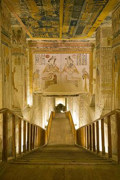 Entrada a la tumba de Ramsés VI, KV9 Valle de los Reyes.