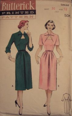 The Notebook Dress 1940s Style Button Up Dress Custom Made In Your Size From a Vintage Pattern