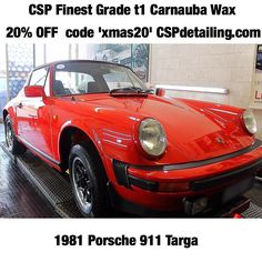 1981 Porsche 911 Targa  with CSP Finest Grade t1 Carnauba Wax. #CSPdetailingsystem #ScientificallyAdvanced Prep Products Inc: CSP pH Neutral Snow Foam. CSP Lubricated Conditioning Shampoo. CSP Versatile Citrus Wash. CSP Non-Acidic Wheel Cleaner. CSP Reactive Iron Fe. CSP CSP Long Life Tyre Trim. CSP CSP VOC free Glass Cleaner. CSP Prestige Interior Cleaner. CSP Prestige Interior Dressing. Stunning by @yce_automotive_detailing  Gloss  Protection: CSP Finest Grade t1 Carnauba Wax…