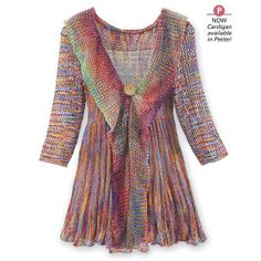 Space Dyed Mixed Stitch Cardigan - Women's Clothing – Casual, Comfortable & Colorful Styles – Plus Sizes