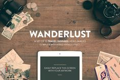 10 Travel Hero Images: Wood Series by RAPPIDLY on Creative Market