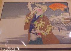 Japanese Woodblock Print by Tetsu Sai vintage by VintageAudioPlus