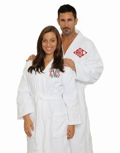 Monogrammed Terry and Velour Robes