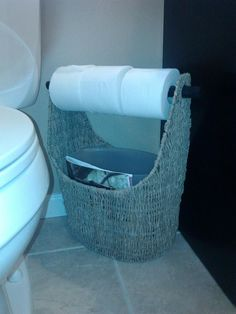 typical use for magazine basket - toilet paper and magazine holder in bathrooms plus fits a small trash can (in the medium/large basket) Small Bathroom Organization, Bathroom Ideas, Laundry In Bathroom, Master Bathroom, Magazine Holders, Large Baskets, Thirty One Gifts, Mobile Home, Dream Bedroom