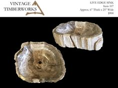 Please click for description and availability on this item. We supply fine petrified wood pieces ranging from large end grain table tops, live edge slabs, mantels, shelves, stumps, stools, bowls, vessel sinks, platters, and more.