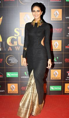 necklace-amprapali-Vani Kapoor in a Nikhil Thampi gown.