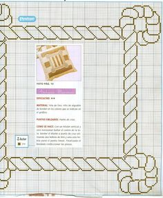 Solo Patrones Punto Cruz (pág. 328) | Aprender manualidades es facilisimo.com Cross Stitch Borders, Cross Stitch Patterns, Beading Patterns, Crochet Patterns, Bordado Popular, Rug Hooking Patterns, Rico Design, Knitting Charts, Punch Needle