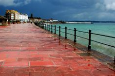Penzance Promenade after a summer rain storm Places To See, Places Ive Been, Fear Of Flying, Rain Storm, Summer Rain, Cornwall England, St Ives, Eurotrip, Great Britain