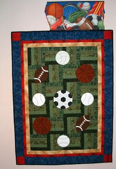 sports quilt patterns for boys | sports quilt pattern found in fan tastic sport quilts by four corners ...