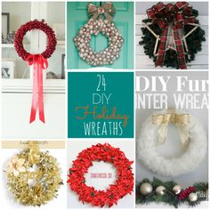 24 DIY Holiday Wreaths To Make Your Home More Festive. Love The Simplicity Of The Framed Leaf Wreath!
