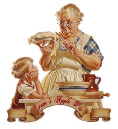 The Willow Wood Relief Society: 'Favorite Things' Relief Society Birthday Party - poem about aprons. Grandma Cooking, Retro, Relief Society Activities, Grandma And Grandpa, Norman Rockwell, Vintage Pictures, Pictures Images, Belle Photo, Vintage Art