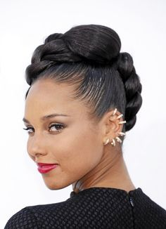 Health Hair Care Advice To Help You With Your Hair. Do you feel like you have had way too many days where your hair goes bad? Black Hair Updo Hairstyles, Black Girls Hairstyles, Braided Hairstyles, Natural Hair Updo, Natural Hair Growth, Natural Hair Styles, Alicia Keys, Hair Health, Braid Styles