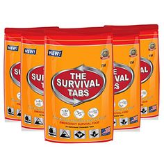 Survival Tabs - 10-Day Food Supply-Emergency Survival Food MRE for Outdoor Activities Camping Biking Also for Disaster Preparedness Gluten-Free Non-GMO The Survival Tabs 25 Years Shelf Life (5 pouches x 24 tablets = 120 Tablets/Butterscotch) LB1 High Performance http://www.amazon.com/dp/B00R3OGWBW/ref=cm_sw_r_pi_dp_FTk-vb1YCFC6X