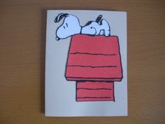 Snoopy Card made with my cricut Back In The Day, I Card, Cricut, Card Making, Snoopy, Scrapbooking Ideas, Card Ideas, Crafts, Fictional Characters