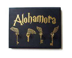 Hand Painted Harry Potter Alohamora Key Holder by WillowAndRoxas