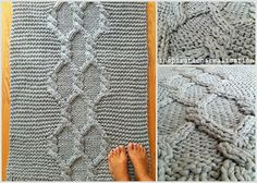 *for the home* giant knitted rug