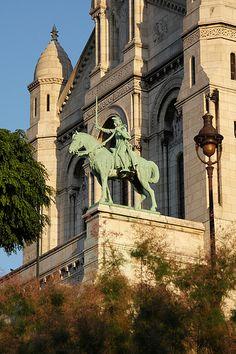 Joan of Arc - Sacre Coeur - Paris - France |