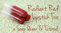 Learn How to Make Radiant Red Lipstick. Vamp it up with this easy #DIY #Tutorial