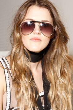 Aviator Sunglasses in Silver/ Black   Thrifted & Modern #sunglasses #aviators