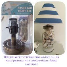Interesting Mason Jar Lamp Bought A Lamp Kit At Hobby With Canning Jar  Light Kit