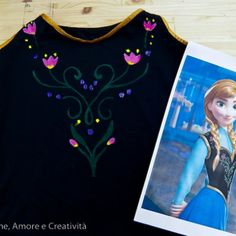 How do the costume: Anna Frozen (in Italian) Halloween Costumes 2014, Halloween Shirt, T Shirt Costumes, Diy Costumes, Costume Ideas, Anna Frozen, Disney Frozen, Frozen Costume, Anna Dress