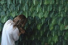 wall | Soki leaves, peacock feathers craft studio