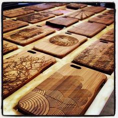 A batch of #iPhone cases fresh out of the laser - they look and smell great! Yep, I said smell. #bamboo