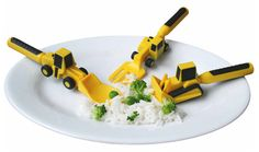 Kreativa prylar - Constructive Eating Bestick , Jo, man får leka med maten!