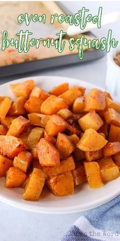 Roasted Butternut Squash is a fall-favorite recipe. With its rich, buttery texture and sweet, nutty flavor, it's an irresistible taste of autumn. #numstheword #butternutsquash #sweet #nutty #rich #fallfavorite Sweet Potato, Oven Roasted Butternut Squash, Tasty, Yummy Food, Vegetables, Autumn, Fall, Potatoes, Favorite Recipes