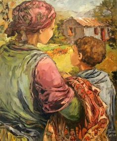 Aviva Maree. Die Blommejas African Paintings, Art Paintings, South African Artists, Fabric Painting, Symbols, Illustration, Artwork, Flowers, Vintage
