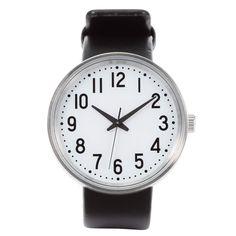 腕時計・公園の時計・大 バンド:黒革 型番:MJ‐PCWB1 | 無印良品ネットストア