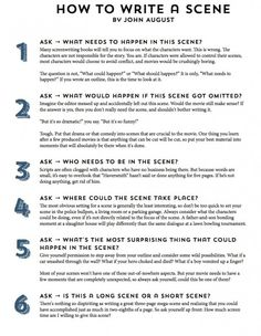 Infographic: John August's 11-Step Guide to Writing a Scene « No Film School