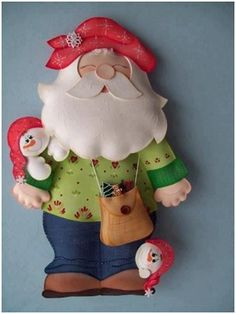 santa claus christmas template stuffed toy pattern sewing handmade craft