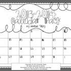 FREEBIEThis calendar is black and white for easy copying! I hope you enjoy! July 2013- July 2014  2013- 2014 BW Calendar by Amanda Talley is licensed...