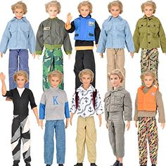 E-TING 3 Set Long Sleeve Shirt Outfit Clothes Trousers For Ken Dolls ** Check this awesome product by going to the link at the image.