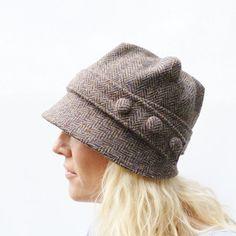 Harris Tweed Cloche sombrero Multi color otoñal por moaningminnie, $89.50