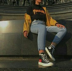 Check out this korean fashion Schauen Sie sich diese koreanische Mode Check out this Korean fashion . : Check out this korean fashion Schauen Sie sich diese koreanische Mode Check out this Korean fashion . Skater Girl Outfits, Teen Fashion Outfits, Mode Outfits, Look Fashion, Fasion, Fashion Check, Club Fashion, Skater Girl Style, Fashion Edgy