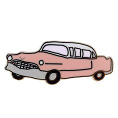 Pink Cadillac Pin by Abby Galloway from Valley Cruise Press