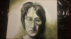 John Lennon portrait by South African artist Michelle Meyer Instagram @mlovestodaydream