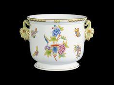 Virágcserép, kecske fejét fogantyú Decorative Objects, Hand Painted, Porcelain Ceramics