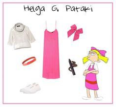 13 Iconic Cartoon Character Outfits Recreated: Helga G. Cartoon Halloween Costumes, Cool Costumes, Costume Ideas, Halloween Stuff, Halloween Party, Lisa Simpson, 90s Fashion, Fashion Outfits, Fandom Fashion